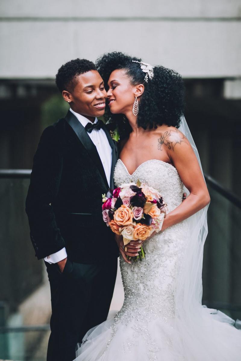 How We Built Our Elegant Black Same-Sex $90K Wedding
