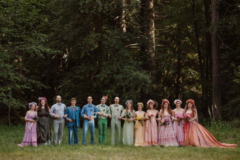 50+ Colored Wedding Dresses That Are On Point