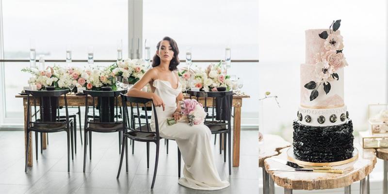 Blush Gold And Matte Black Modern Wedding Ideas