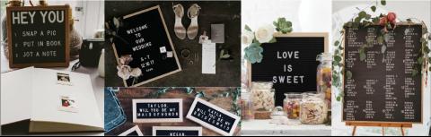 AILAVIEU Letter Boards
