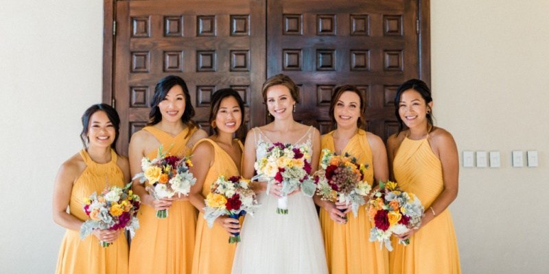 Classic Country Club Wedding in Gold and Blue