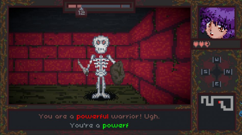 Backspace Bouken, a dungeon crawler that wants you to type
